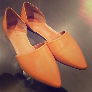 Vince Leather Flats Made in Italy